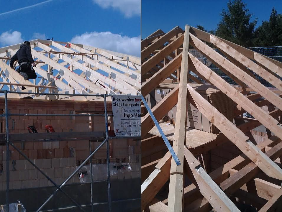 Zimmerei Heider - Arbeiten am Dachstuhl