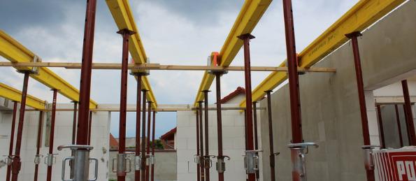 Vorbereitung für Verlegen Stahlbetondecken