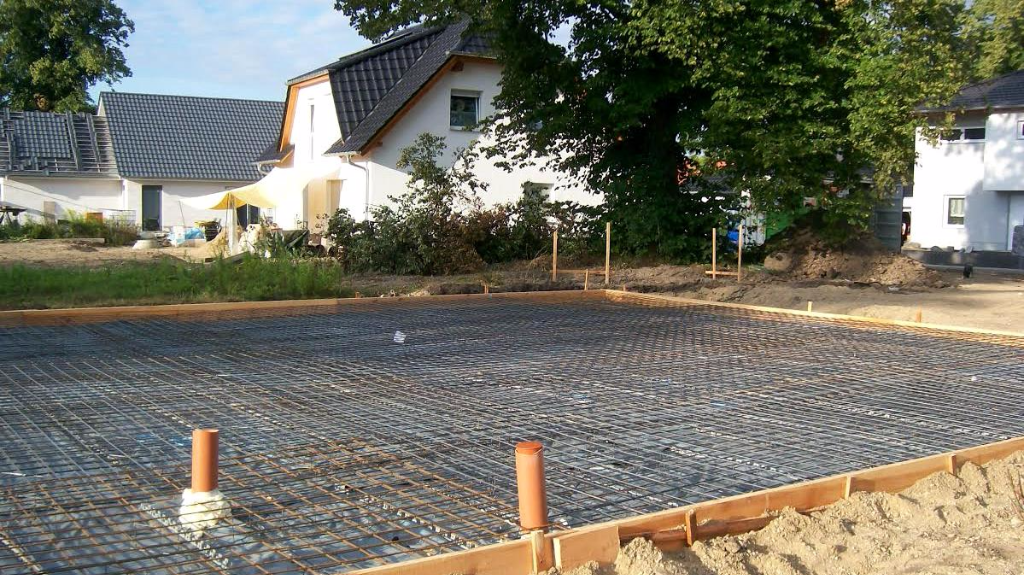 Stahlbetonbodenplatte für Einfamilienhaus in Köthen