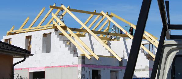 Richten Dachstuhl Einfamilienwohnhaus